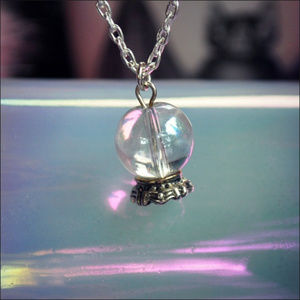 Jewelry - Mini Crystal Ball Necklace